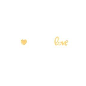 گوشواره طلا Love و قلب