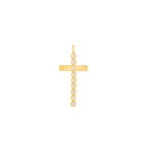 آویز طلا صلیب نگین دار
