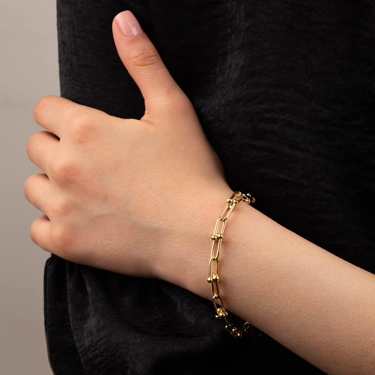 زنجیر دستبند طلا لینک