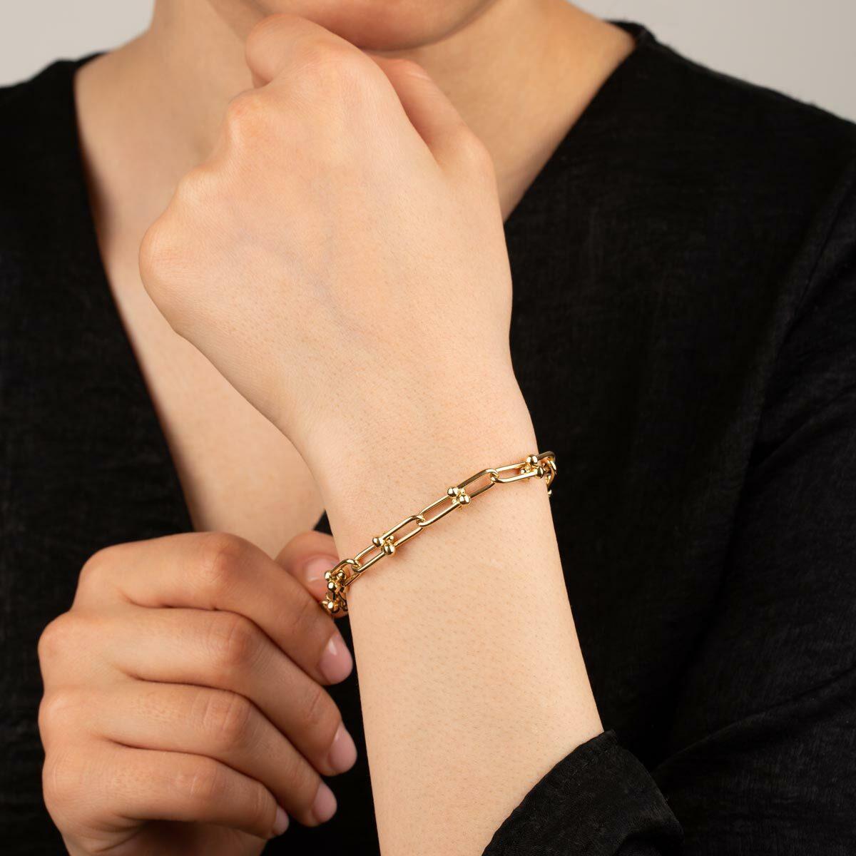 زنجیر دستبند طلا تیفانی