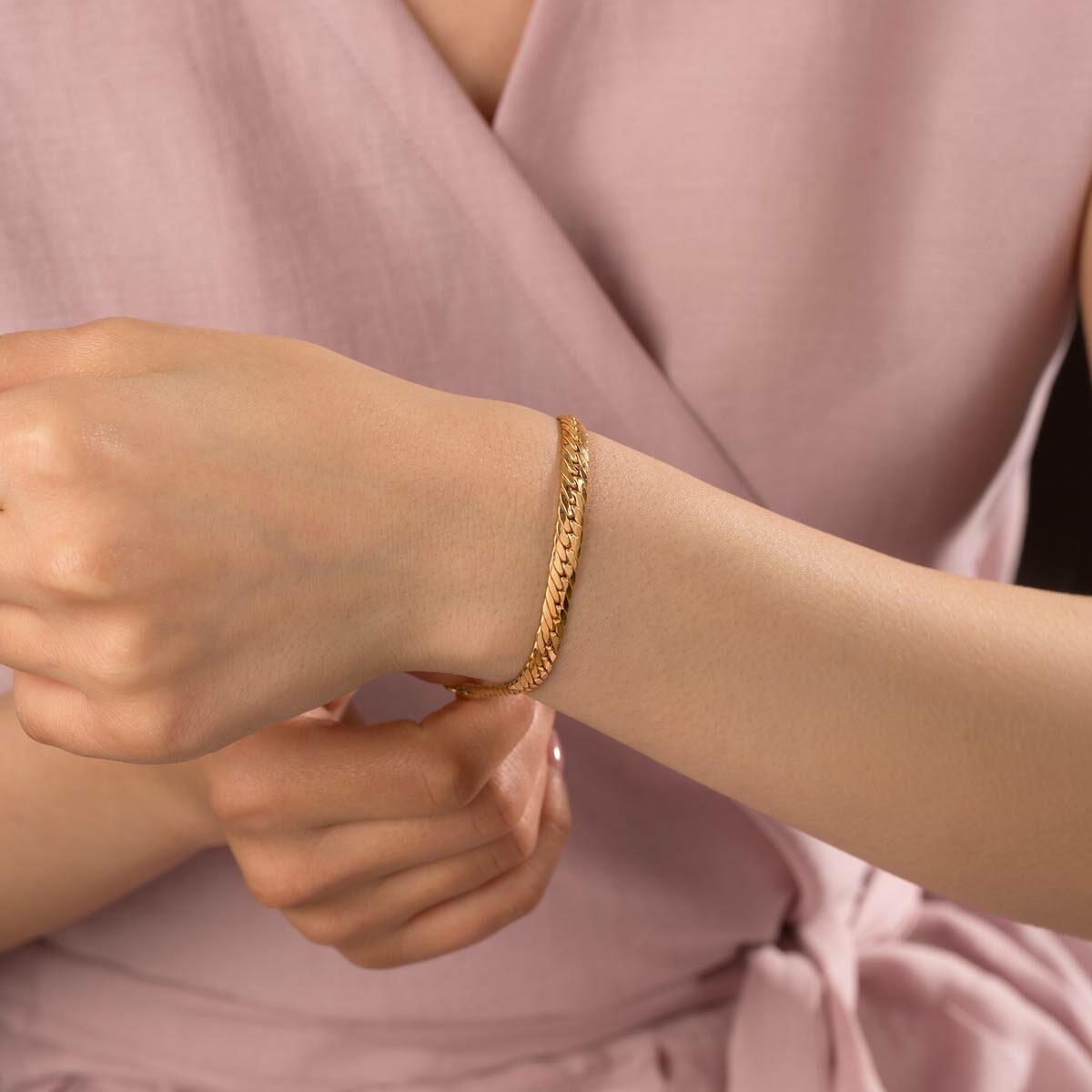 زنجیر دستبند طلا کارتیه کوبیده