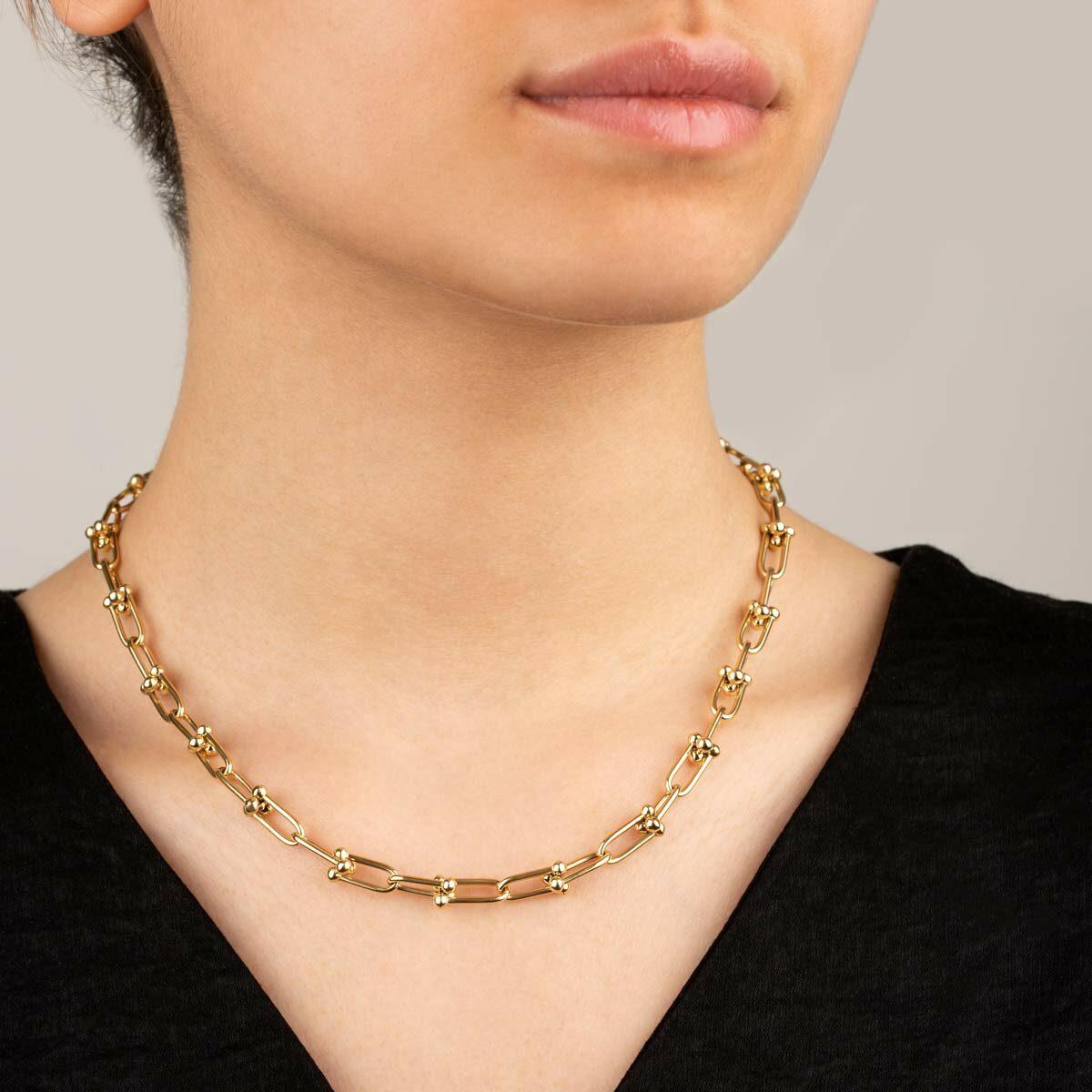 زنجیر گردنبند طلا تیفانی
