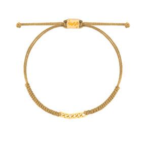 دستبند طلا بافت مکرمه خاکی شش حلقه کارتیه