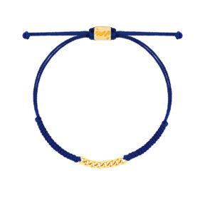 دستبند طلا بافت آبی هشت حلقه کارتیه
