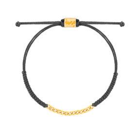 دستبند طلا بافت طوسی سیزده حلقه کارتیه