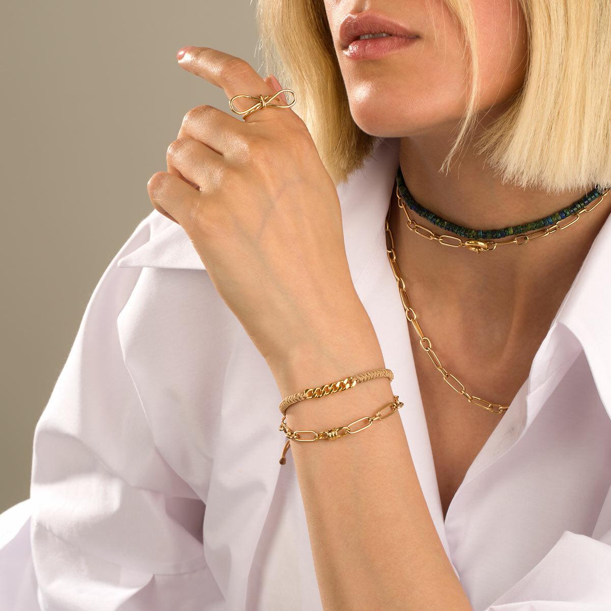 دستبند زنجیری طلا ایرا
