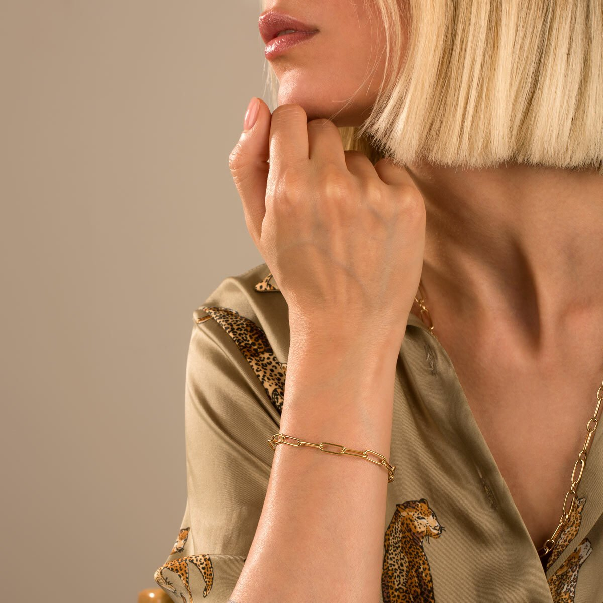 دستبند زنجیری طلا کادنا