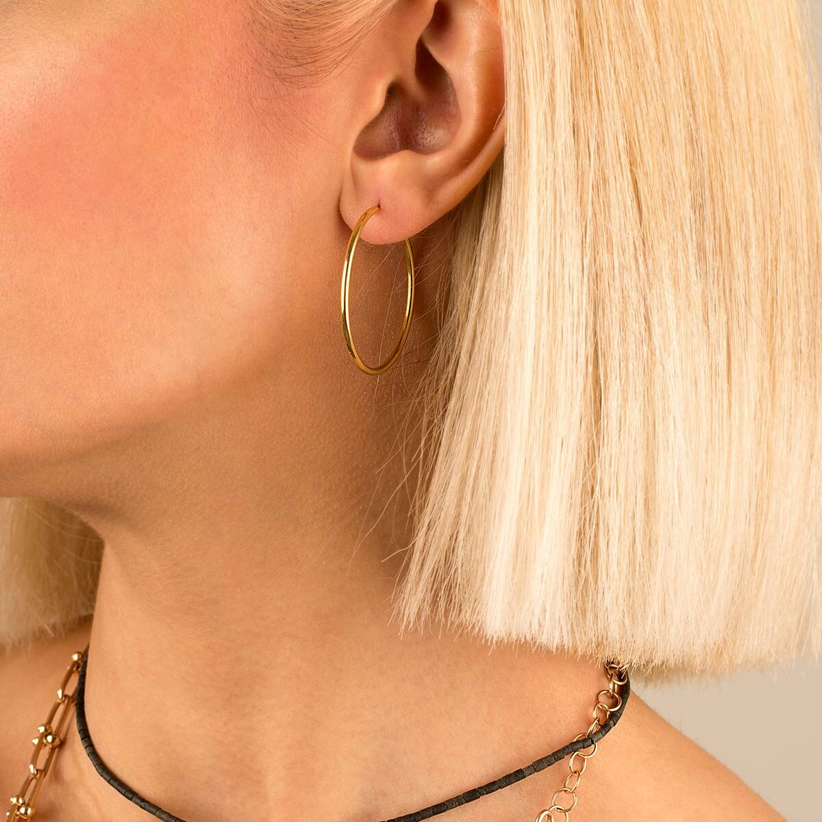 گوشواره طلا حلقه بزرگ