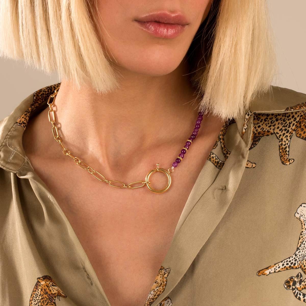 گردنبند طلا ایرا و آمیتیس
