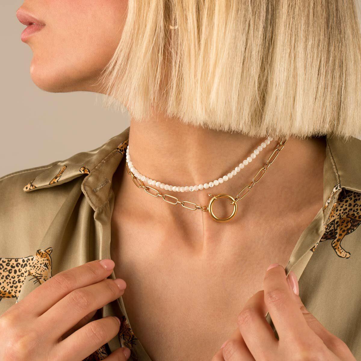 گردنبند طلا ایرا و صدف
