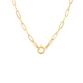 گردنبند زنجیری طلا کادنا قفل دایره کوچک