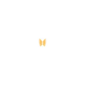 گوشواره طلا تک لنگه ای پروانه کوچک