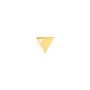 گوشواره طلا تک لنگه ای مثلث ستاره دار