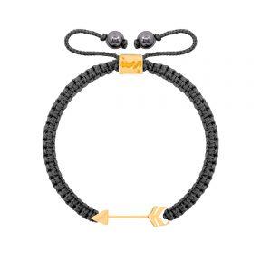 دستبند طلا بافت طوسی پیکان