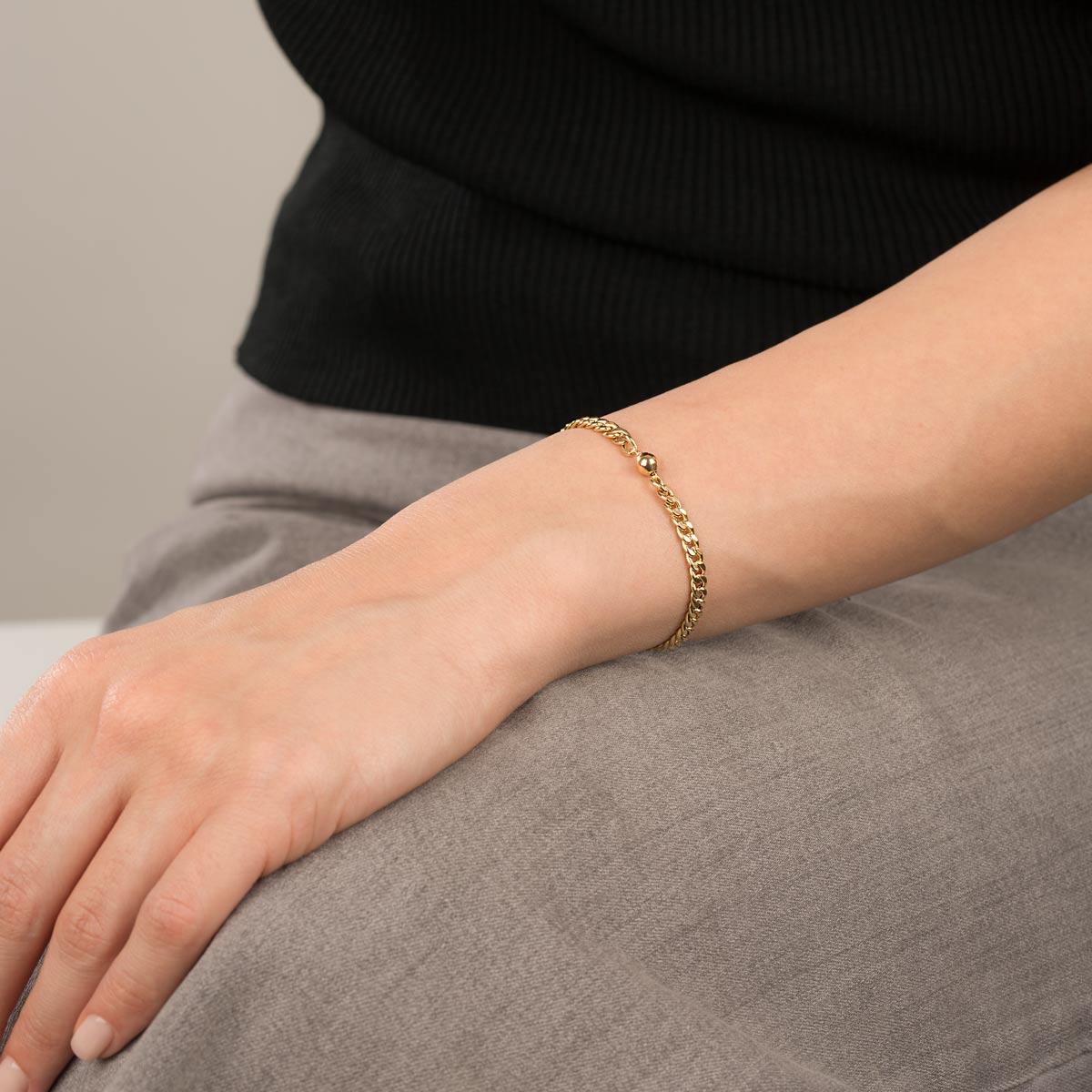 دستبند طلا کارتیه و گوی