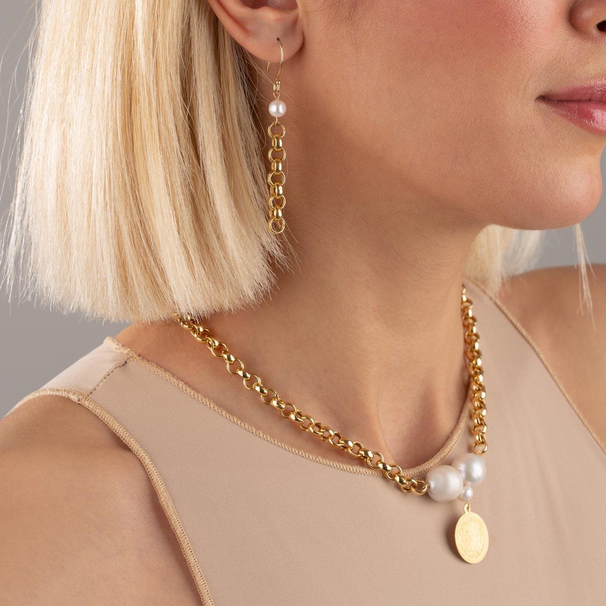 گردنبند طلا سکه و رولو