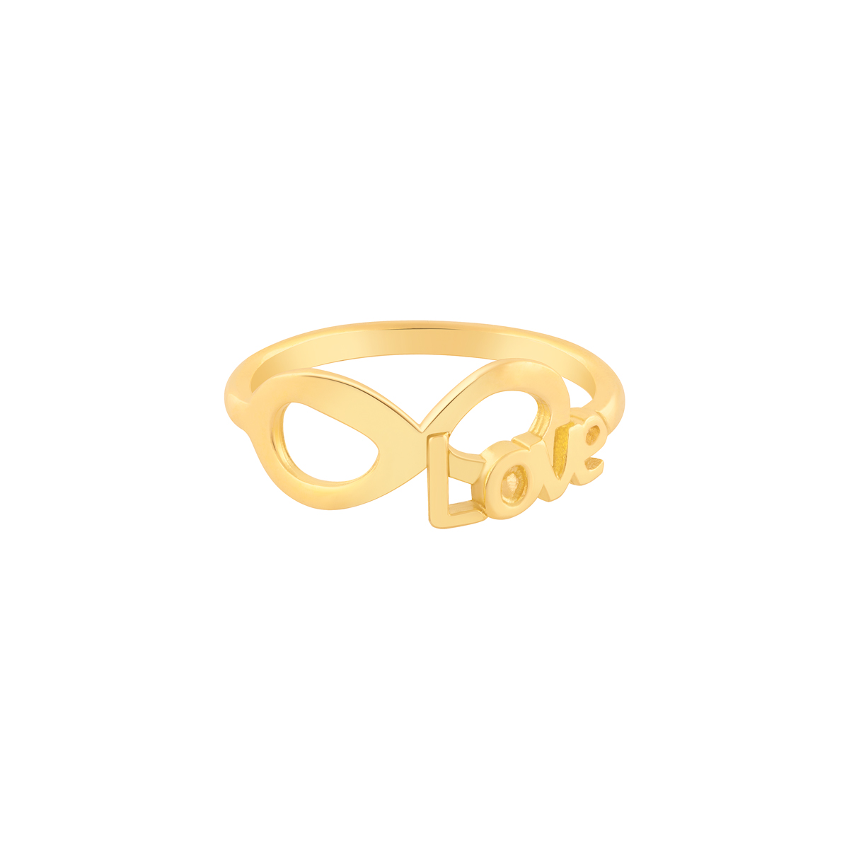 انگشتر طلا LOVE و بی نهایت