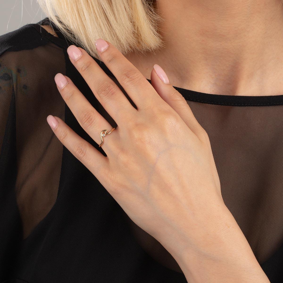 انگشتر طلا موج و لونا
