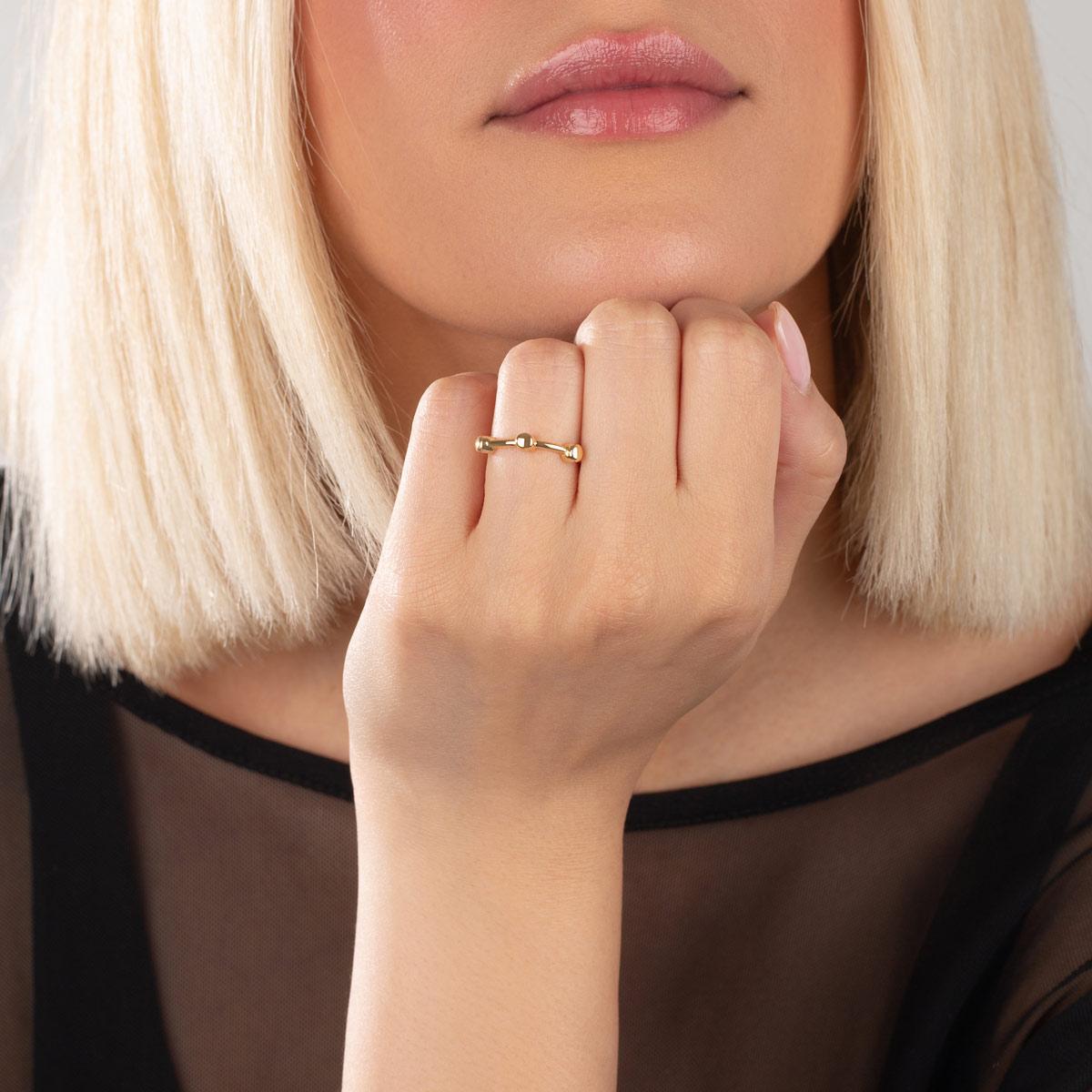 انگشتر طلا کاپری