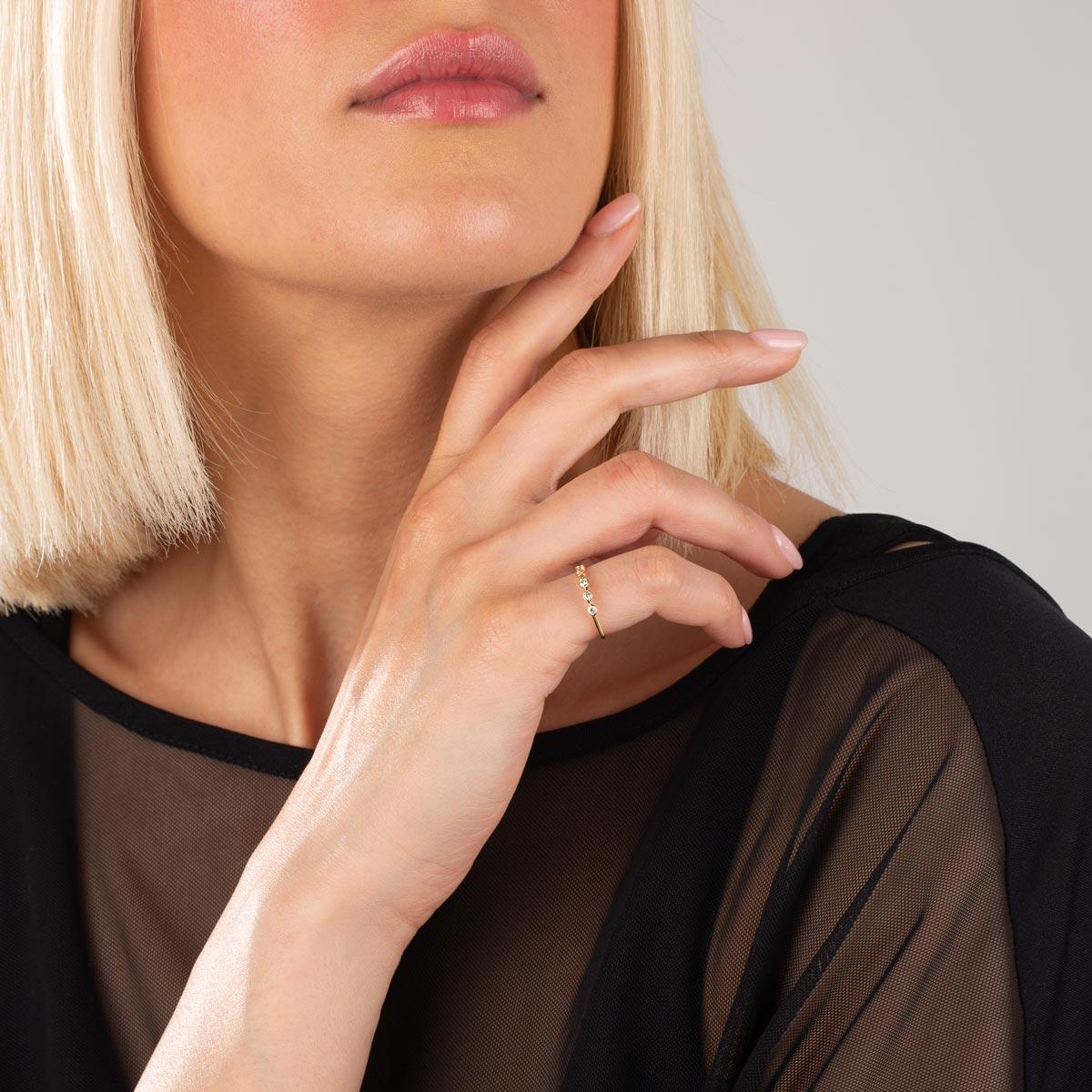 انگشتر طلا شش لونا