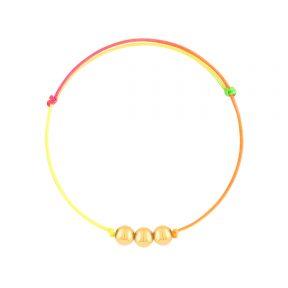 دستبند طلا بافت رنگین کمان سه گوی