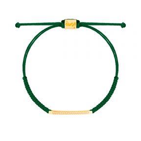 دستبند طلا بافت سبز دوستی
