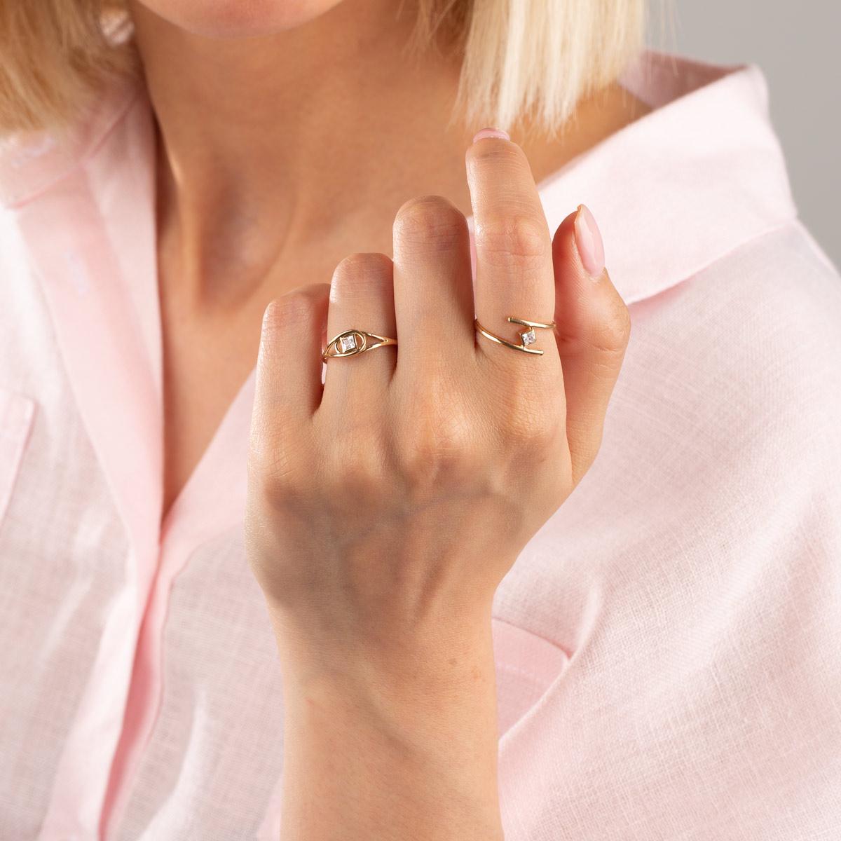 انگشتر طلا آلینا
