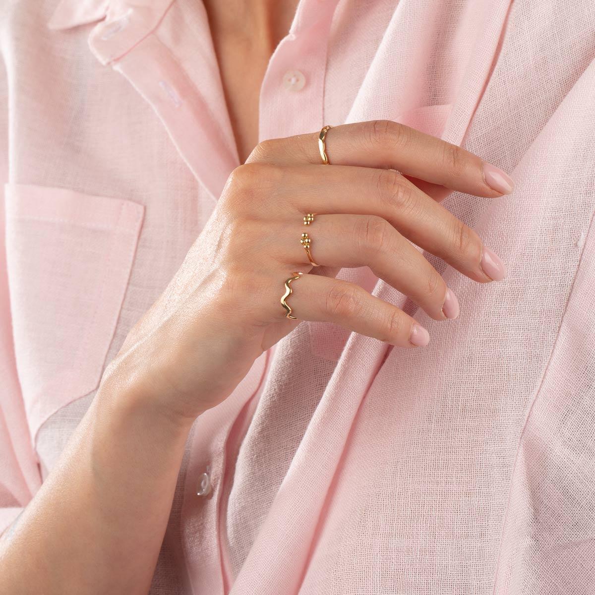 انگشتر طلا زیگزاگ