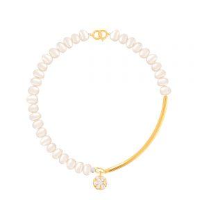 دستبند طلا سنگی منحمی و فلاور