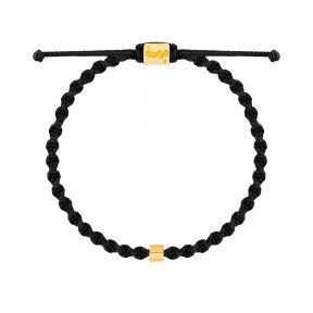 دستبند طلا بافت دی ان ای استوانه
