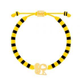 دستبند طلا سنگی بچه گانه زنبور فیمو