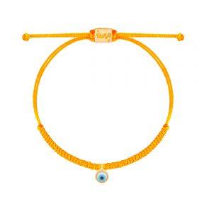 دستبند طلا بافت نارنجی چشم