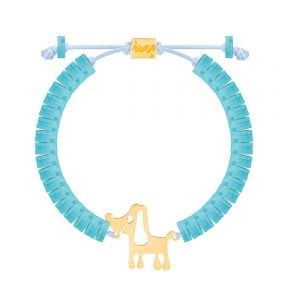دستبند طلا سنگی هاپو فیمو