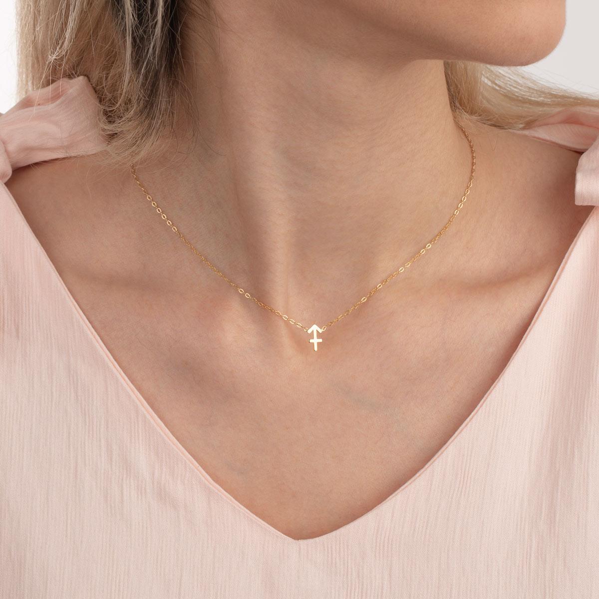 گردنبند طلا ساین ماه آذر
