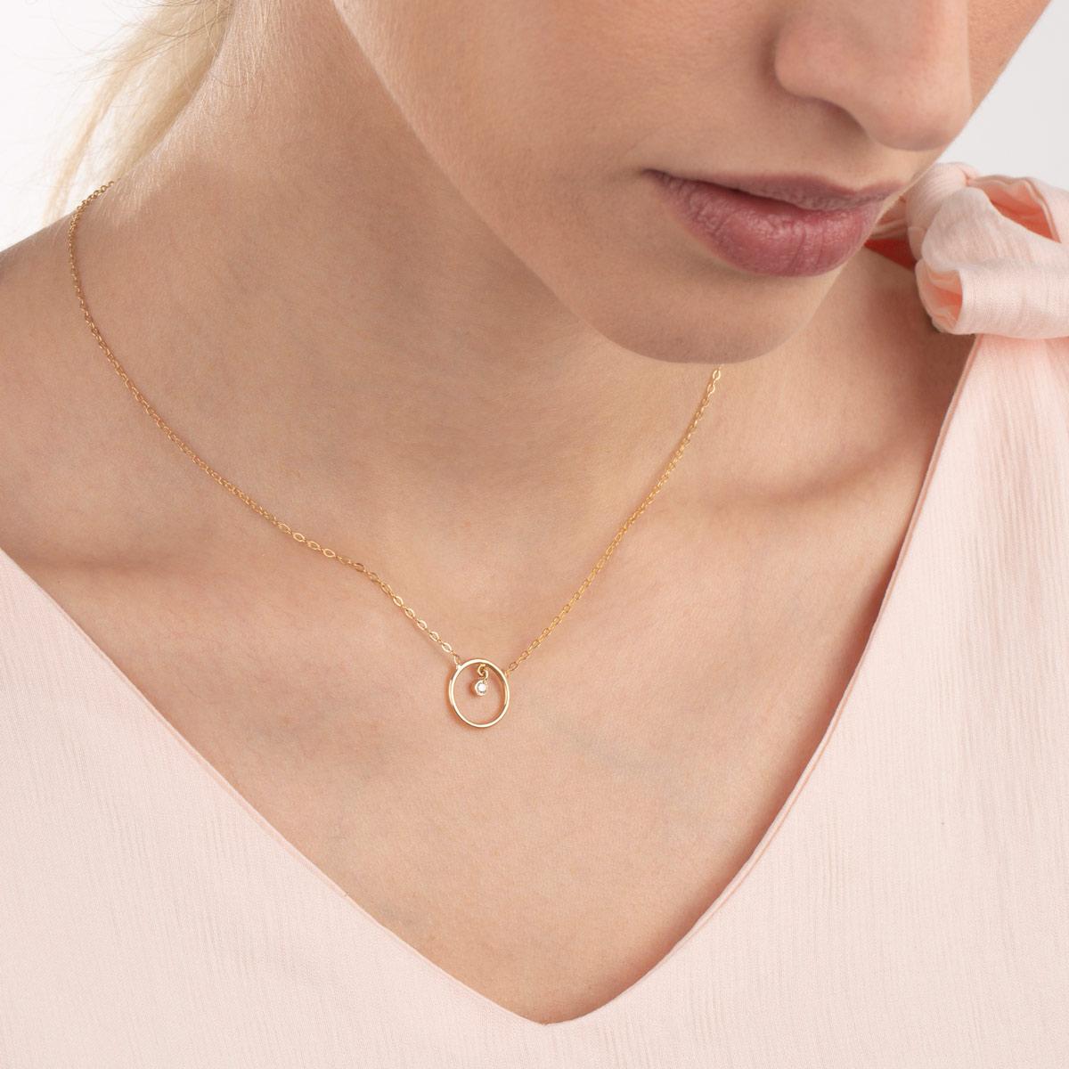 گردنبند طلا دایره و لونا