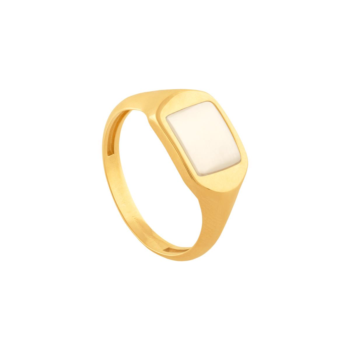 انگشتر طلا صدف مستطیل